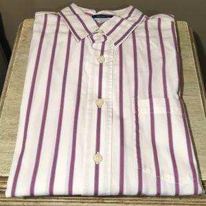 White Pin-Striped Button Down Shirt
